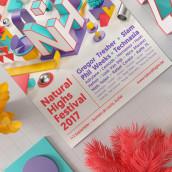 Natural Highs Festival. Um projeto de Ilustração, 3D, Br, ing e Identidade e Design gráfico de Serafim Mendes - 01.08.2017