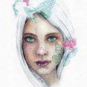 Mi Proyecto del curso: Retrato ilustrado en acuarela. Un proyecto de Ilustración, Bellas Artes, Pintura y Retoque fotográfico de laura_nv - 02.12.2017