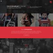 Live TV broadcast site. Um projeto de Web design de Six Design - 04.12.2017