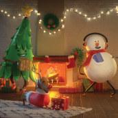 Suchard-Navidad, la odias o la amas?. Um projeto de Design, Motion Graphics, Cinema, Vídeo e TV, 3D, Animação, Design de personagens e Animação de personagens de Fabio Medrano - 12.12.2017
