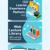 Set of banners for IBM. Un projet de Web Design de Ernesto Pérez Araque - 17.12.2017