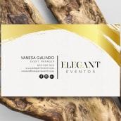 Diseño de la Imagen Corporativa - Elegant Eventos. Um projeto de Design, Design gráfico e Naming de Moisés Miranda - 09.09.2017