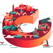 XV CIRCUITO de la Red. Un progetto di Illustrazione, Direzione artistica, Graphic Design e Illustrazione vettoriale di Ulises Martín Martín - 22.09.2017