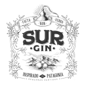 SUR GIN. A Design, Illustration, Packaging, and Lettering project by Diego Giaccone - 01.24.2018