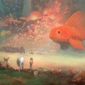 The journey and the big fish. Un progetto di Illustrazione di Mocaran - 30.01.2018