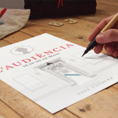 L'audiéncia | Obra de Teatro. A Illustration, and Vector Illustration project by Carlos Villarin Rodriguez - 02.01.2018