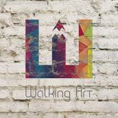 Identidad Corporativa Walking Art. Un proyecto de Diseño, Br, ing e Identidad, Gestión del diseño, Diseño editorial, Diseño gráfico, Diseño de producto, Naming y Diseño de logotipos de Patricia Fesán - 05.02.2018