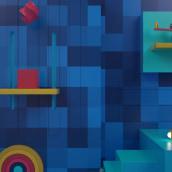 """Animación intro Personal """"Fernando Ríos"""". Un proyecto de 3D y Animación de Oscar Fernando De Jesús Ríos - 07.02.2018"""