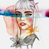 Mi Proyecto del curso: Retrato ilustrado en acuarela con Ana Santos. A Illustration project by Leyre Leon - 17.02.2018