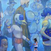Inmigrantes. A Painting project by Jesús Benítez - 03.15.2018