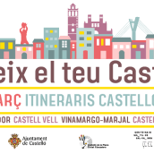 Cartel Itineraris Castelló Educa. A Illustration, Graphic Design, and Vector Illustration project by Enric Redón - 04.05.2018
