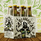 CERVEZA CASCARRABIAS LAGER. A Design, Illustration, Br, ing, Identit, Character Design, Packaging, and Product Design project by Eric Morales (Dr. Morbito) - 04.07.2018
