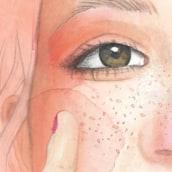 Niña Huskie. A Illustration, Grafikdesign, Malerei und Fotoretuschierung project by Leyre Leon - 15.02.2018