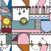 Mi proyecto del curso: Diseño de estampados textiles. Um projeto de Design, Ilustração, Design de acessórios, Design de vestuário, Moda, Design gráfico, Pintura, Design de produtos, Retoque fotográfico, Pattern Design e Ilustração vetorial de Elena Struch - 18.04.2018