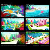 """Concept art for """"Pocoyo and the Dreams Machine"""", animated feature project.. Um projeto de Design, Publicidade, Cinema, Vídeo e TV, Animação, Design industrial, Design de interiores, Design de brinquedos, Cinema, TV, Animação 3D, Esboçado, Criatividade, Ilustração digital, Stor e telling de Pedro Bascon - 01.01.2015"""