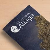 """Folleto: """"Viendo las estrellas con otro ojos"""" - Albergue de Aliaga. Un proyecto de Diseño gráfico de Sonia San José Campos - 01.01.2018"""