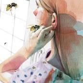 """Ilustración para el libro """"El futuro es femenino"""" Ed. Penguin Random House. Escrito por Sara Cano. Um projeto de Ilustração, Artes plásticas, Colagem, Criatividade, Desenho a lápis e Ilustração digital de Ana Santos - 03.05.2018"""
