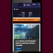 SD Eibar - Diseño web. Um projeto de Web design e Ilustração vetorial de Marta Revillas - 07.12.2016