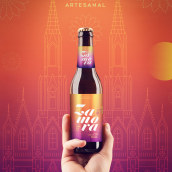Cerveza Artesanal Zamora. A Br, ing, Identit, Packaging, Product Design, and Vector Illustration project by Eric Morales (Dr. Morbito) - 05.08.2018