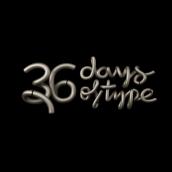 36 Days Of Type 2018. Um projeto de 3D, Animação 3D e Tipografia de Rebeca G. A - 10.05.2018