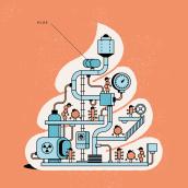 El Pais Semanal - Digestive Machine.. Um projeto de Ilustração e Infografia de Mᴧuco Sosᴧ - 16.05.2018