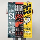 Carteles de lettering e Ilustración. Un projet de Illustration , et Lettering de Jordi Calvet - 11.03.2018