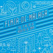 Cartel Feria de Málaga 2018. Un progetto di Graphic Design, Illustrazione vettoriale , e Lettering di Esteban Zamora Voorn - 20.05.2018