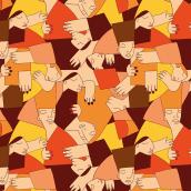 MOVEMOS EL MUNDO | Proyecto del curso creación y comercialización de patterns vectoriales. Um projeto de Ilustração de Julieta Longo - 23.05.2018