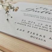 Wedding Cards - E&G. Un proyecto de Diseño gráfico de María Sanz Ricarte - 04.06.2018