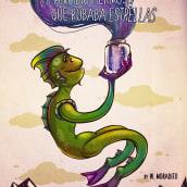 El hermoso anfibio que robaba estrellas. Un proyecto de Diseño de personajes e Ilustración digital de Wampi Moradito - 18.06.2018