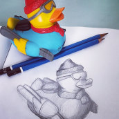 Ejercicio de dibujo. A Drawing, and Pencil drawing project by César Matamoros - 06.23.2018