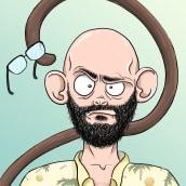 """Raúl """"Monkey"""" Navarro. Un proyecto de Ilustración de Antía Díaz - 26.06.2018"""