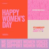 Women's Day. Un proyecto de Dirección de arte, Diseño gráfico y Tipografía de Andrea Arqués - 08.03.2018