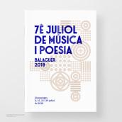 Festival de Música y Poesía (identidad corporativa). Un progetto di Br, ing e identità di marca, Progettazione editoriale, Graphic Design, Tipografia , e Progettazione di icone di Toni Castro García - 08.07.2018