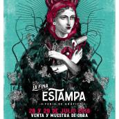 Diseño e ilustración de afiche para Feria Gráfica . Um projeto de Ilustração e Colagem de Zoveck Estudio - 17.07.2018