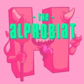 The Alphobiat (36 Days of Type V edition). Un projet de Illustration, Character Design, T, pographie, Dessin et Illustration numérique de Eneri Mateos - 17.07.2018