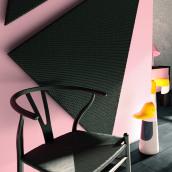 Black&Pink. Um projeto de Design, 3D, Arquitetura de interiores e Design de interiores de Cris Rey - 03.03.2018