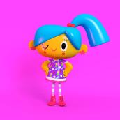 Diseño de personajes 3D. A 3D, and Character Design project by Cecilia Meade - 08.06.2018
