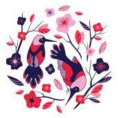 Colección Pattern Emplumada. Un projet de Design  de Natalia Rojo Mellado - 13.08.2018