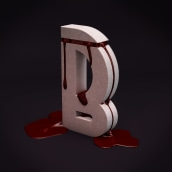 Bloody letter. A 3D, Art Direction, Graphic Design, Photo retouching, and 3d modeling project by Harry Sequini - 08.18.2018