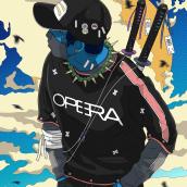 Colaboración con la marca italiana de ropa OPERA CONTAGION.. Un proyecto de Ilustración de I P LOBATO - 02.09.2018