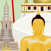 Infografía de Bangkok / Bangkok infographics. A Illustration, Graphic Design, Infographics, and Vector Illustration project by Ángela Gutiérrez Graphic Design - 09.05.2018