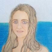 Mi Proyecto del curso: la mirada de Martina. Un proyecto de Ilustración e Ilustración de retrato de Ester Pino Tovar - 09.09.2018