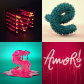 Proyecto Lettering 3D. A Design, Illustration, 3D, T, and pograph project by Brenda Matilla - 09.15.2018