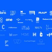 35 Logotipos. Un progetto di Br, ing e identità di marca , e Direzione artistica di Quim Marin Marín - 19.09.2018