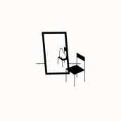 Gato y Espejo. Un proyecto de Ilustración, Ilustración vectorial, Dibujo e Ilustración digital de Catalina Parra Villalba - 25.09.2018