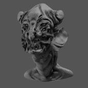 Nightmare monster. Un projet de 3D, Modélisation 3D , et Conception de personnages 3D de Roman C. Ojer - 25.02.2018