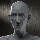 Skinny man 10% cartoon by Dr. Stendhal. A 3D, and 3d modeling project by dr_stendhal - 05.17.2018