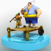 Small Fisherman Rig. A 3D, and 3D Animation project by Jose Antonio Martin Martin - 10.10.2018