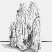familia fantasma. Un proyecto de Dibujo a lápiz de Natalia lopez de munain - 12.10.2018